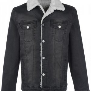 Forplay Jeans Jacket With Berber Fleece Lining Välikausitakki