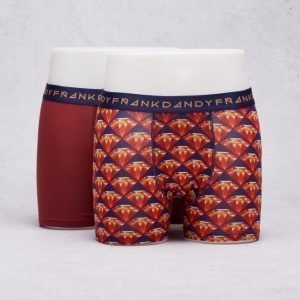 Frank Dandy 2-Pack Boxer Bling Thing Dark Red/Red