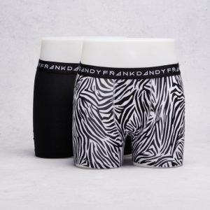 Frank Dandy 2-Pack Boxer Zebra Black/White