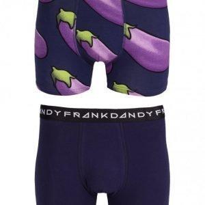 Frank Dandy 2-Pack Eggplant Boxer Bokserit Navy