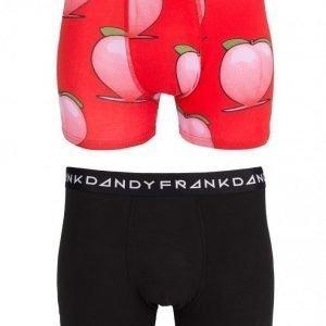 Frank Dandy 2-Pack Peaches Boxer Bokserit Black/Red