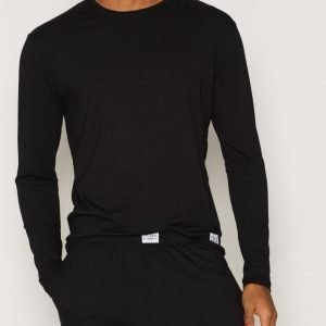 Frank Dandy Bamboo Straight LS Tee Loungewear Black