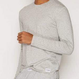 Frank Dandy Bamboo Straight LS Tee Loungewear Grey Melange