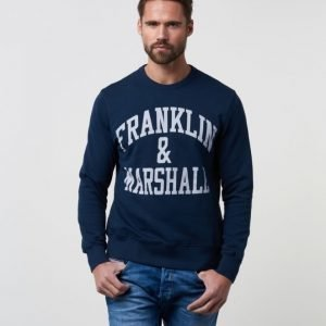 Franklin & Marshall Basic Logo Sweat Navy