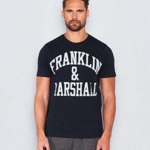 Franklin & Marshall Basic Logo Tee Black