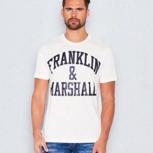 Franklin & Marshall Basic Logo Tee Old White