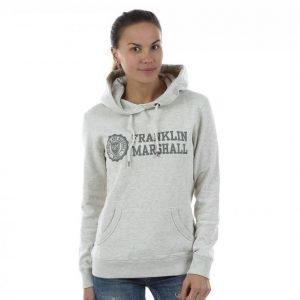 Franklin & Marshall Classic Logo Hoodie Vetoketjuhuppari Harmaa