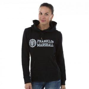 Franklin & Marshall Classic Logo Hoodie Vetoketjuhuppari Musta