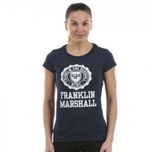 Franklin & Marshall Classic Logo Tee T-paita Sininen