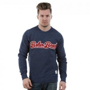 Franklin & Marshall Crewneck Fleece Collegepaita Sininen