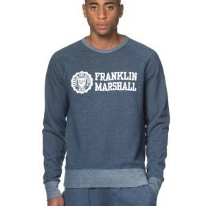 Franklin & Marshall Denim Fleece Sweat Navy Melage