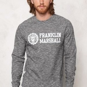 Franklin & Marshall Fleece Fleece Round Black Melange