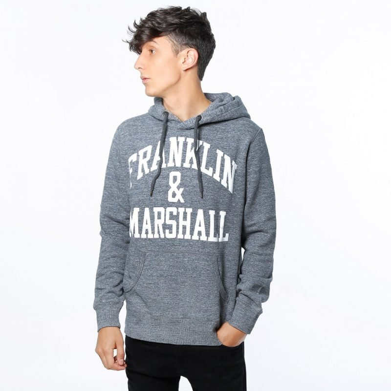 Franklin & Marshall Fleece Hooded Big Logo -huppari