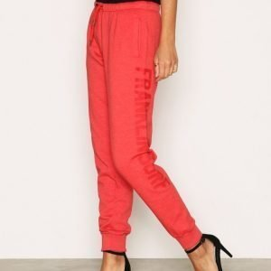 Franklin & Marshall Fleece Pants Housut Red