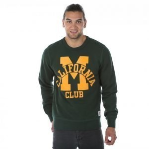 Franklin & Marshall Fleece Round Neck Long Collegepaita Vihreä