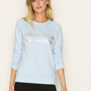 Franklin & Marshall Fleece Round Svetari Pastel Blue