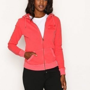 Franklin & Marshall Fleece Zip Huppari Red