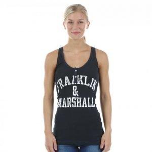 Franklin & Marshall Henley Tank Top Treenitoppi Sininen