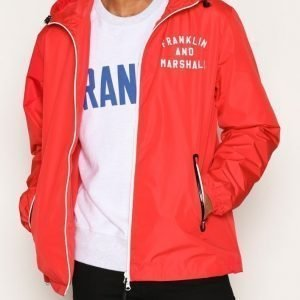 Franklin & Marshall Jacket Nylon Zip Takki Red