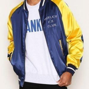 Franklin & Marshall Jacket Uni Teddy Takki Laivastonsininen