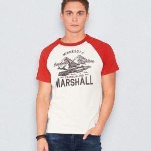 Franklin & Marshall Jersey Print Ecru