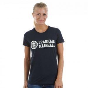 Franklin & Marshall Jersey Print T-paita Sininen