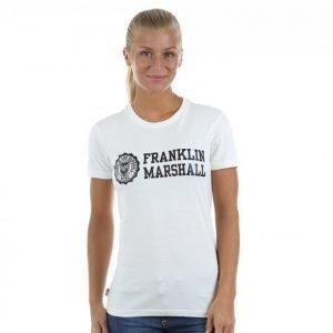 Franklin & Marshall Jersey Print T-paita Valkoinen