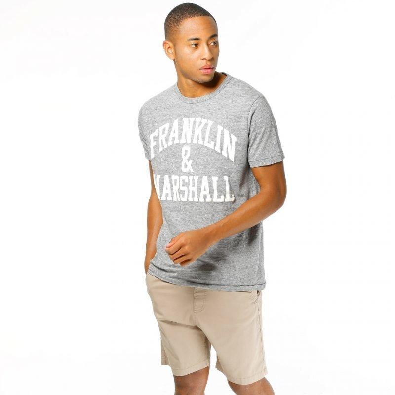 Franklin & Marshall Jersey Round Logo -t-paita
