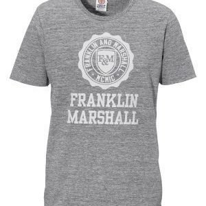 Franklin & Marshall Jersey T-Shirt 023 Black Melange