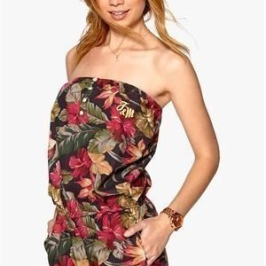 Franklin & Marshall Jumpsuit Red Tropical Flower
