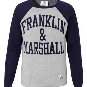 Franklin & Marshall Knitted Sweater 874 Sport Grey