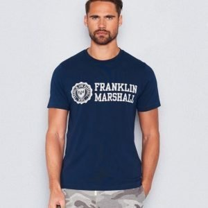 Franklin & Marshall Logo Tee Navy