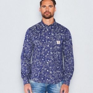 Franklin & Marshall Map Shirt Wild Map