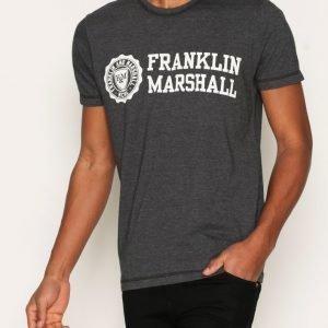 Franklin & Marshall T-shirt Jersey Round T-paita Black