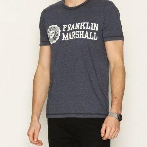 Franklin & Marshall T-shirt Jersey Round T-paita Navy