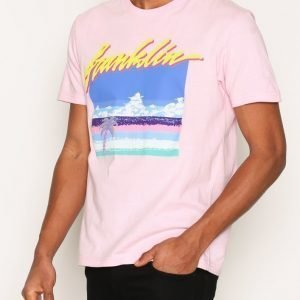 Franklin & Marshall T-shirt Jersey Round T-paita Powder Pink