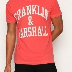 Franklin & Marshall T-shirt Jersey Round T-paita Red