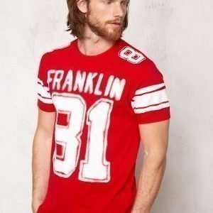 Franklin & Marshall Tshirt Jersey Round Comets Red