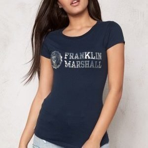 Franklin & Marshall Tshirt Jersey Round Navy