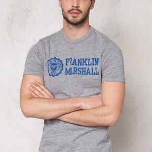 Franklin & Marshall Tshirt Jersey Round Sport Grey Mel