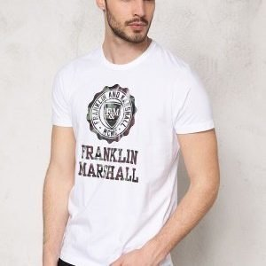 Franklin & Marshall Tshirt Jersey Round White
