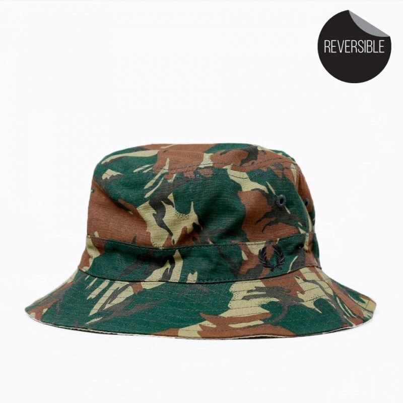 Fred Perry Camo Ripstop Reversible Fisherman -hattu