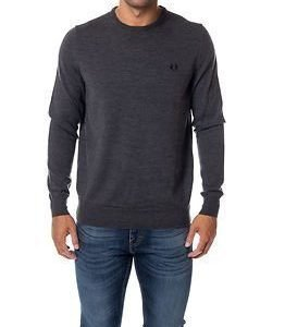 Fred Perry Classic Crew Neck Graphite Marl