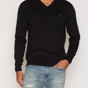 Fred Perry Classic V-Neck Pusero Black
