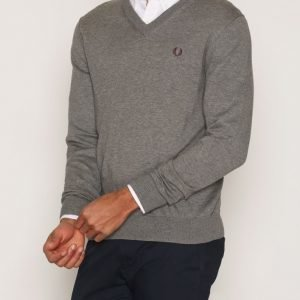 Fred Perry Classic V-Neck Pusero Grey Marl