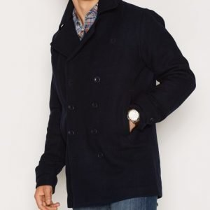 Fred Perry Classic Wool Pea Coat Takki Navy