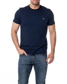 Fred Perry Double Stripe Pocket T-Shirt Royal