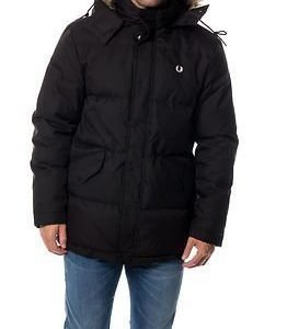 Fred Perry Down Fur Trim Parka Black