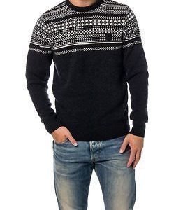 Fred Perry Fairisle Crew Neck Black Marl