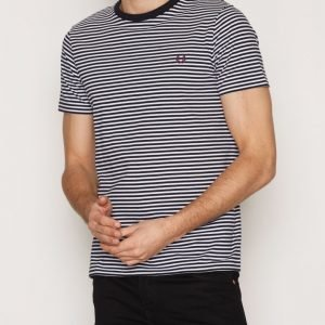 Fred Perry Fine Stripe T-shirt T-paita Navy